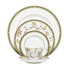 Oberon 5-Piece Place Setting Wedgwood ($140) ❤ liked on Polyvore featuring home, kitchen & dining and wedgwood