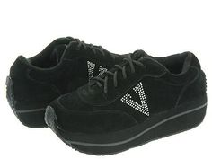 VOLATILE Expulsion Women's Lace up casual Shoes Black Rhinestone