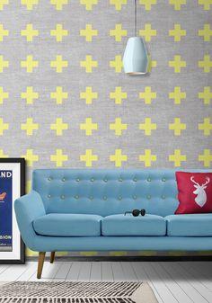 98 - Swiss Linen Wallpaper by Ingrid + Mika for Milton & King
