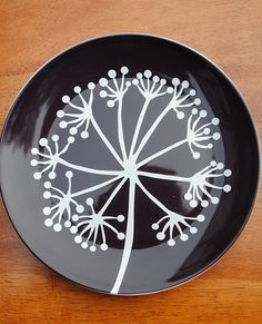 plates. want to paint design on canvas