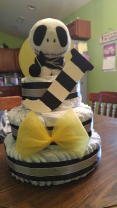 Nightmare before christmas baby shower diaper cake
