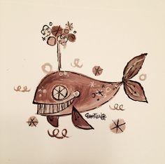 Acrylic & Ink on Paper by Alberto Cerriteño