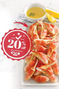 Craving crab? Now is the perfect time to try our Snow Crab Claws. 🦀 Crab Week is the perfect time to crush your cravings with 20% off all crab products for the next 4 days when you use the promo code CRABWEEK. Lobster Gram, Claws, Cravings, Shrimp, Seafood, Snow, Products, Sea Food, Eyes