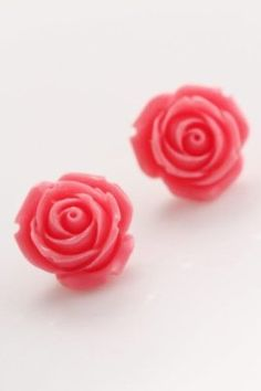 Peony Earrings in Pink $7.99 - available at www.frock-stock.com