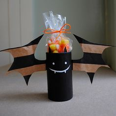 toilet paper roll bat. I am going to make these next year for Ethan's little daycare buddies !