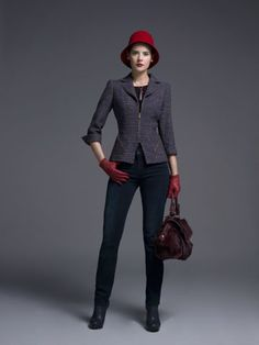 Here's a great casual and elegant look for those chilly days!