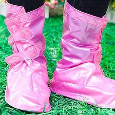 des couvre-chaussures imperméables réglables (rose) – EUR € 9.20