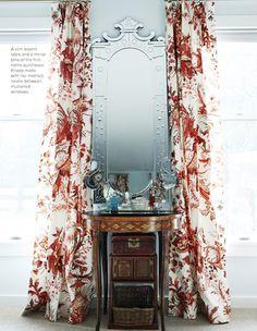 dramatic windows and mirror vanity // samantha knapp