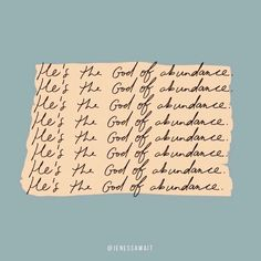 He's the god of abundance. Bible Verses Quotes, Jesus Quotes, Faith Quotes, Me Quotes, Scriptures, Cool Words, Wise Words, Encouragement, Happy Words