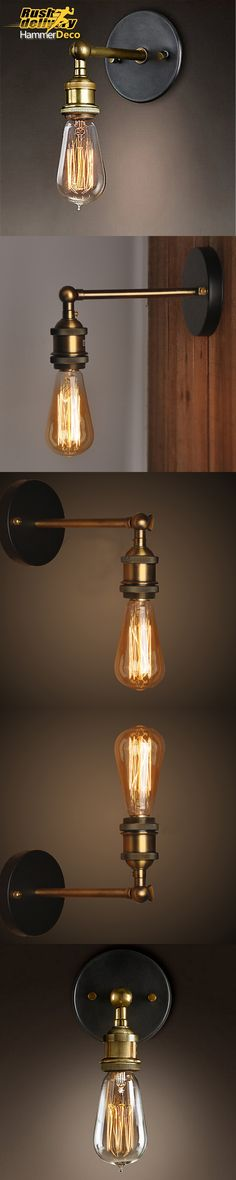 Loft American Vintage Wall Lamps Bedroom Bedside Lamp Industrial Warehouse/Balcony/Aisle/Cabin Wall Lights Edison Lamps