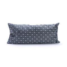 Small Origami Throw Pillow Cover in Gray   dotandbo.com