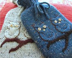 Hotwater bottles. Owls