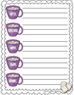"Great ""how to"" writing freebie (how to make hot cocoa)."