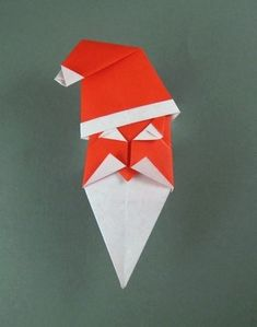 Happy Santa by John Smith  Diagrams in Origami - 30 Fold-by-Fold Projects  Folded from 2 squares of origami paper