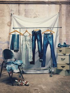 REPLAY Jeans, just hanging, pinned by Ton van der Veer