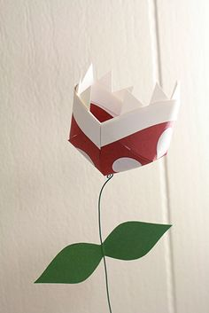 Try a little video game paper craft with these pretty Piranha Plant flowers.