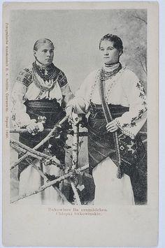 Bukovina Old Photos, Vintage Photos, Folk Costume, Costume Dress, Culture, Embroidery, Wall Art, Retro, Aprons