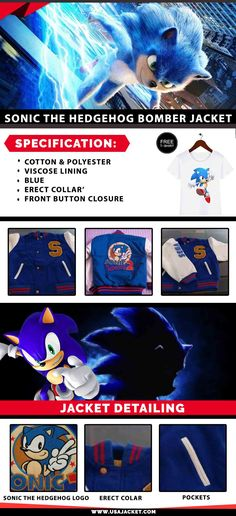 10 Best Sonic The Hedgehog Jackets Images In 2020 Sonic The Hedgehog Sonic Hedgehog