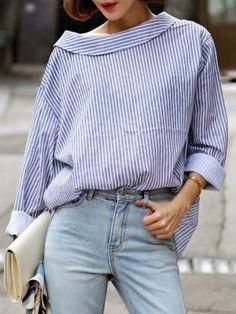 chemise rayée femme, chemise fluide super chic