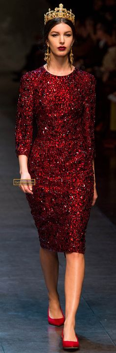 Dolce & Gabanna Fall Winter 2013-14 - AWESOMENESS! the beading on this collection is a-freaking-mazing.