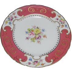 Royal Crown Derby Dinner Plate, England ($82) found on Polyvore featuring home, kitchen & dining, dinnerware, grey dinner plates, gray dinnerware, patterned dinnerware, porcelain dinner plates and royal crown derby dinnerware