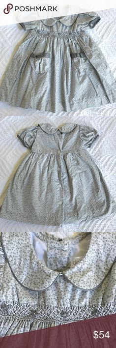 Dondolo 6m dress NWOT! No flaws, beautiful gray floral Smocked dress Dresses