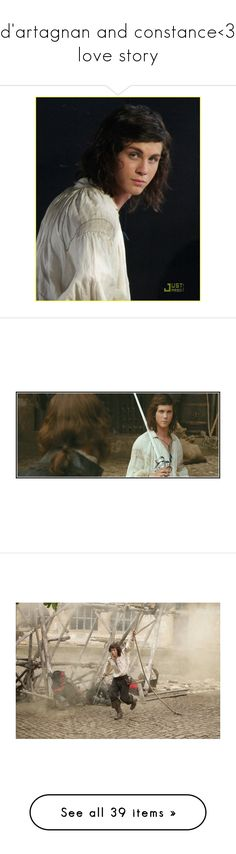 """""""d'artagnan and constance<3 love story"""" by beauty96 ❤ liked on Polyvore featuring home, home decor, logan lerman, people, men, women, girls, models, persone and klik"""