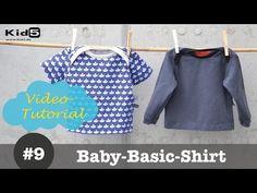 Baby Shirt mit amerikanischem Ausschnitt selber nähen - DIY-Näh-Tutorial - YouTube