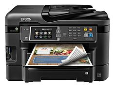 Epson WorkForce WF-3640 Wireless Color All-in-One Inkjet Printer with Scanner and Copier (E-Commerce Packaging)
