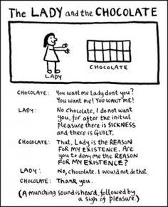 Lady and the chocolate - Edward Monkton