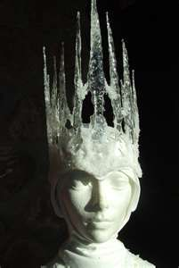 awesome ice crown tutorial - scrap plexiglass painted with Crystal Clear (liquid…
