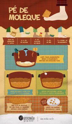 Pé de moleque!   Viva São João Food Network Recipes, Cooking Recipes, Calories, Dessert Recipes, Desserts, Creative Food, Kids Meals, Sweet Treats, Food Porn