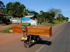 Even caskets have to be moved...Kampala Uganda