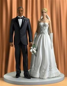 Wedding Cake Topper For An Interracial Couple This