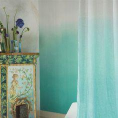 Blue #Aqua ombre wallpaper/ tapeta turkusowa ombre.