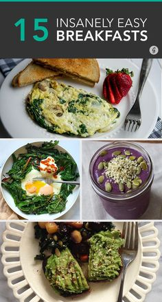 25 Insanely Easy Breakfast — These recipes are so easy, bloggers didn't even think to post them! #breakfast #easy #recipes #greatist