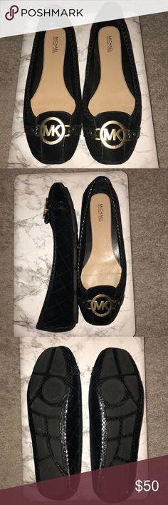 Velvet MK Flats Black velvet Fulton Moc MK Flats - worn once Michael Kors Shoes Flats & Loafers