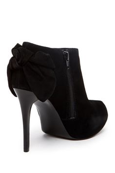 Black Bow Ankle Booties ♥