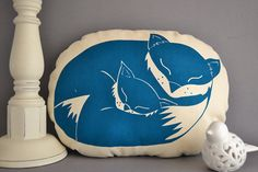 Hey, I found this really awesome Etsy listing at http://www.etsy.com/listing/128705927/fox-cushion-hand-screen-printed-pillow