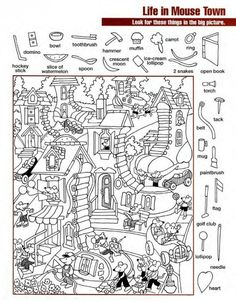 Hidden Object Puzzles, Hidden Picture Puzzles, Hidden Objects, Math For Kids, Puzzles For Kids, Lessons For Kids, Kids Math Worksheets, Classroom Activities, Activities For Kids