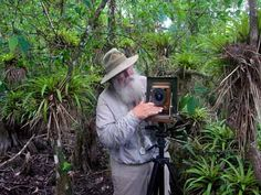 Clyde Butcher with his camera in the Florida Everglades.