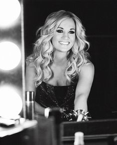 Carrie Underwood. Beautiful hair and make up...she's gorgeous.