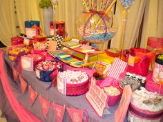candy bar - table presentation