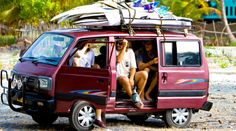 surfers in surf mobile... our specialty