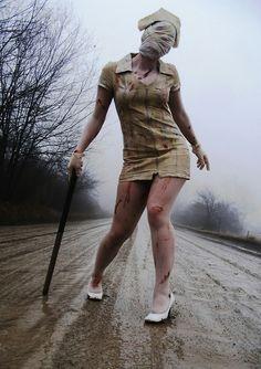 Silent Hill nurse and future halloween costume Scary Halloween Costumes, Cool Costumes, Halloween Makeup, Cosplay Costumes, Halloween Ideas, Amazing Costumes, Halloween Photos, Cosplay Ideas, Costume Ideas
