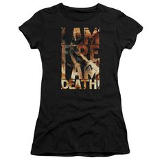 """Checkout our #LicensedGear products FREE SHIPPING + 10% OFF Coupon Code """"Official"""" Hobbit / I Am Fire-short Sleeve Junior Sheer - Hobbit / I Am Fire-short Sleeve Junior Sheer - Price: $34.99. Buy now at https://officiallylicensedgear.com/hobbit-i-am-fire-short-sleeve-junior-sheer"""