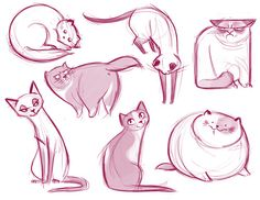 Daily Cat Drawings - fat kitty is sooo cute