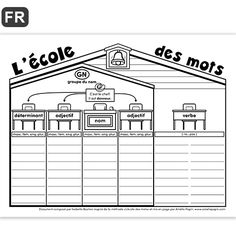 The school of words year) - - French Teaching Resources, Teaching French, French Classroom, School Classroom, Amelie Pepin, High School French, Language Immersion, French Worksheets, Learning Games For Kids