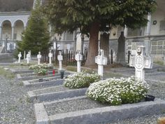 The nun's section of the Oropa cemetery near the Oropa Sanctuary Italy. [OC][2560x1920]