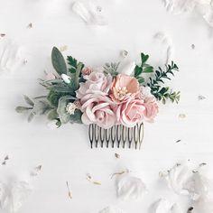 Blush Hair comb Bridal hair comb Wedding hair comb Bridal